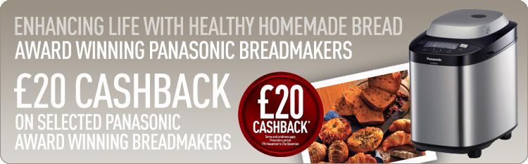 Panasonic Breadmaker Cashback Promotion