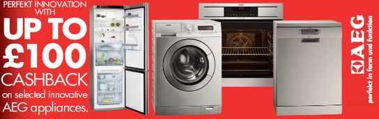 AEG Perfekt Appliances - Up To £100 Cashback