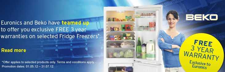 Beko 3 Year Refrigeration Warranty Promotion
