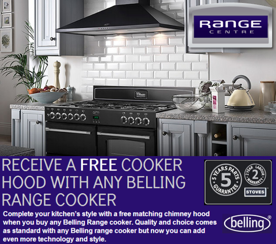 Belling Range Cooker Promotion - Free Chimney Cooker Hood!