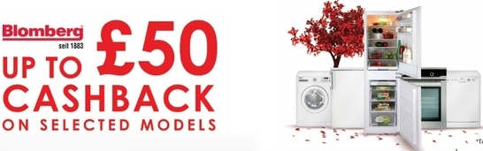 Blomberg Kitchen Appliances Promotion - Up To £50 Cashback!