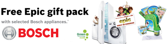 Bosch Appliance Promotion - Free Epic Gift Pack!