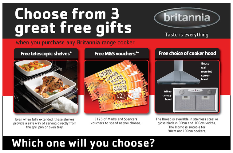 Britannia Range Cookers Retailers Northern Ireland