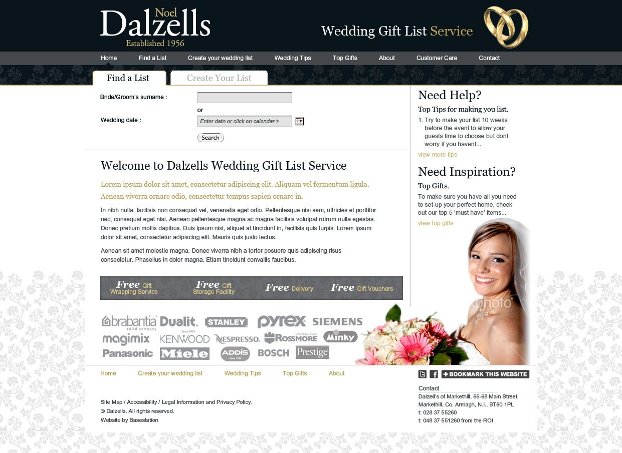 Online Wedding Gift List Service Dalzells Blog