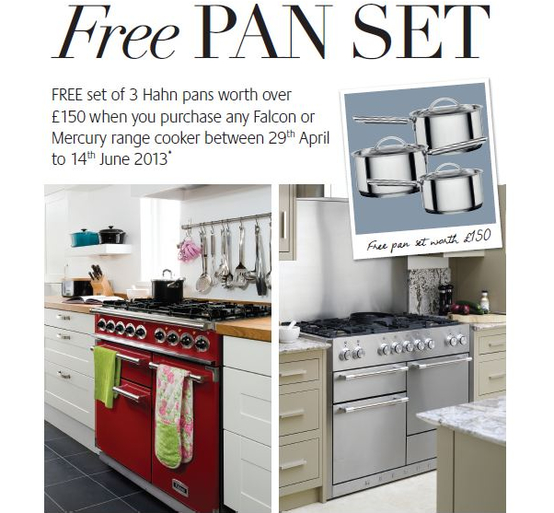 Falcon | Mercury Range Cooker Promotion - Free Hahn Pan Set Worth £150!