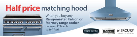 Falcon, Rangemaster and Mercury Range Cooker Promotion - Half Price Cooker Hood