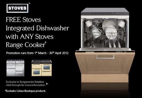 Free Dishwasher With Stoves Range Cookers!