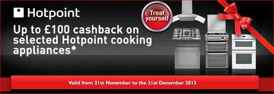 Hotpoint Cooking Appliances - Up To £100 Cashback!