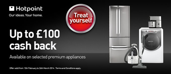 Hotpoint Kitchen Appliances - Up To £100 Cashback!