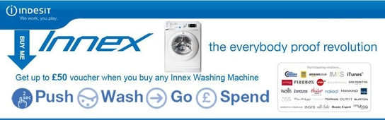 Indesit Innex Washing Machine Promotion - Free Voucher!