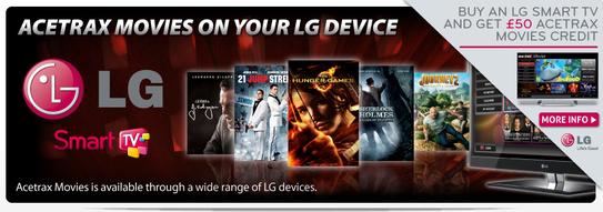 LG Smart TV Promotion - Free £50 Acetrax Voucher