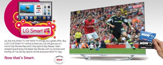 LG Smart TV Promotion - Sky Now TV Passes!