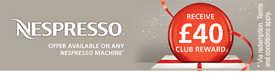 Nespresso Club Coffee Machine Promotion - £40 Voucher!