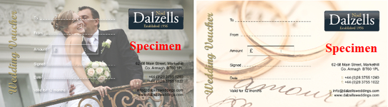 New Wedding Vouchers At Dalzells!