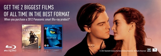 Panasonic Blu-ray Promotion - 2 Biggest Films Of All Time Free!
