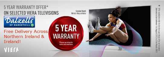 Panasonic Viera 5 Year Warranty Promotion!