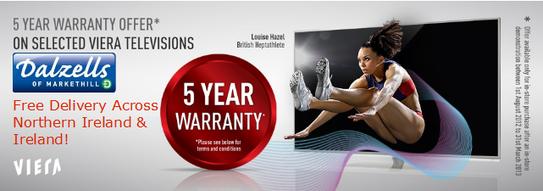 Panasonic Viera 5 Year Warranty Promotion!