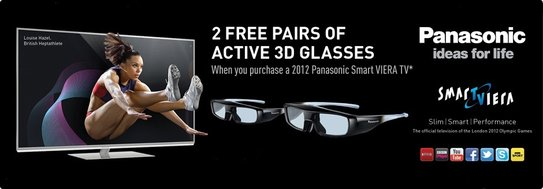 Panasonic Viera Promotion - Free 3D Glasses