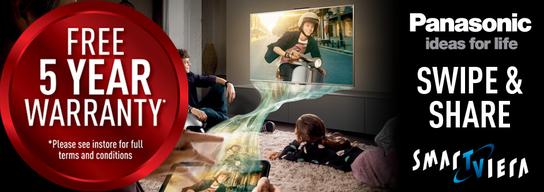 Panasonic Viera Smart TVs - 5 Year Warranty!