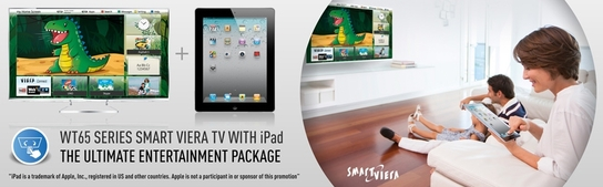 Panasonic WT65 Smart Viera Promotion - Free iPad!