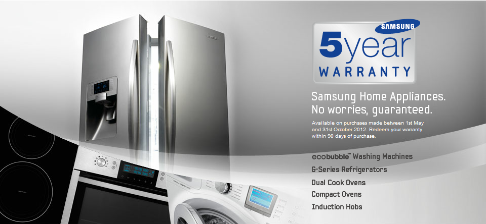 superb Kitchen Appliance Warranty #8: Samsung 5 Year Promotion