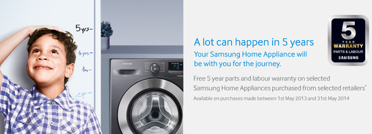 Samsung Home Appliances - 5 Year Warranty!