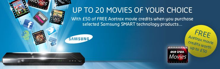 Samsung Smart Promotion - Up To 20 Free Movies From Acetrax