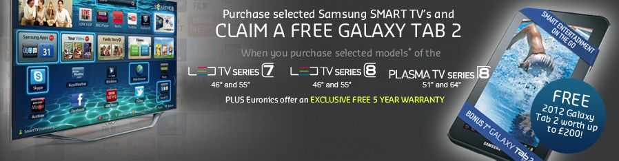 samsung smart tv promotion free galaxy 2 tablet dalzell 39 s blog. Black Bedroom Furniture Sets. Home Design Ideas