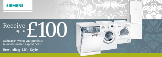 Siemens Home Appliances Promotion - Up To £100 Cashback