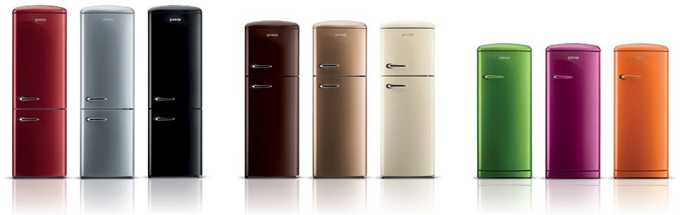 Gorenje 50's Retro Style Fridge Freezers in Northern Ireland