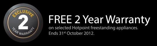 Hotpoint 2 Year Warranty Promotion