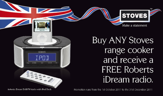 Stoves Range Cooker Promotion - Free Roberts iDream DAB Radio